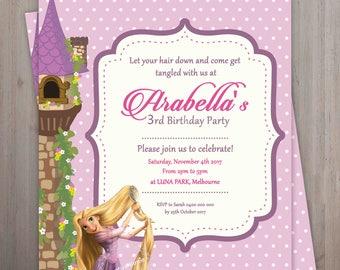 Rapunzel invitation Etsy