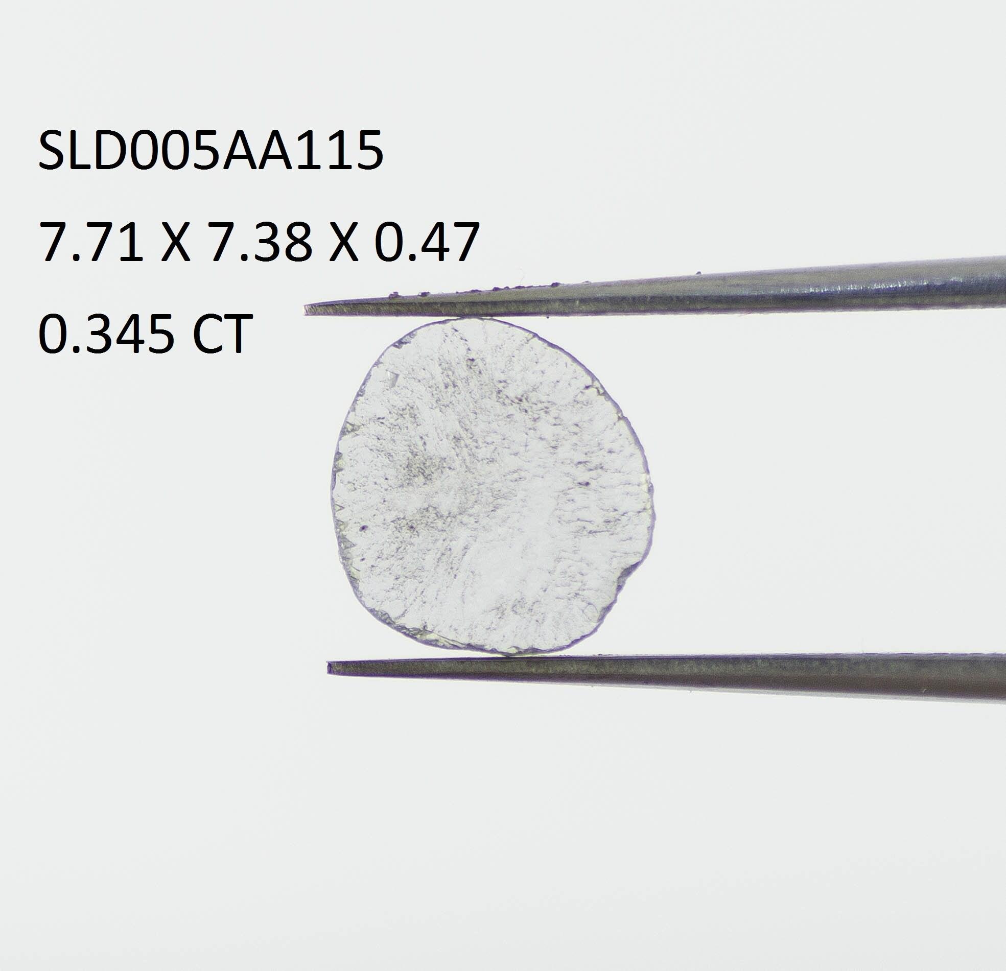 0,345 ct, tranche diamant, diamant brut, diamant diamant diamant non taillé ac61df