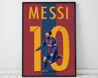 "Messi poster, print, Illustrated messi poster, high quality messi poster, (11""x17"")"