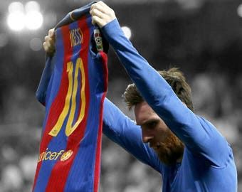NEW! Lionel messi poster ( el classico )  11x17 PACK OF 2