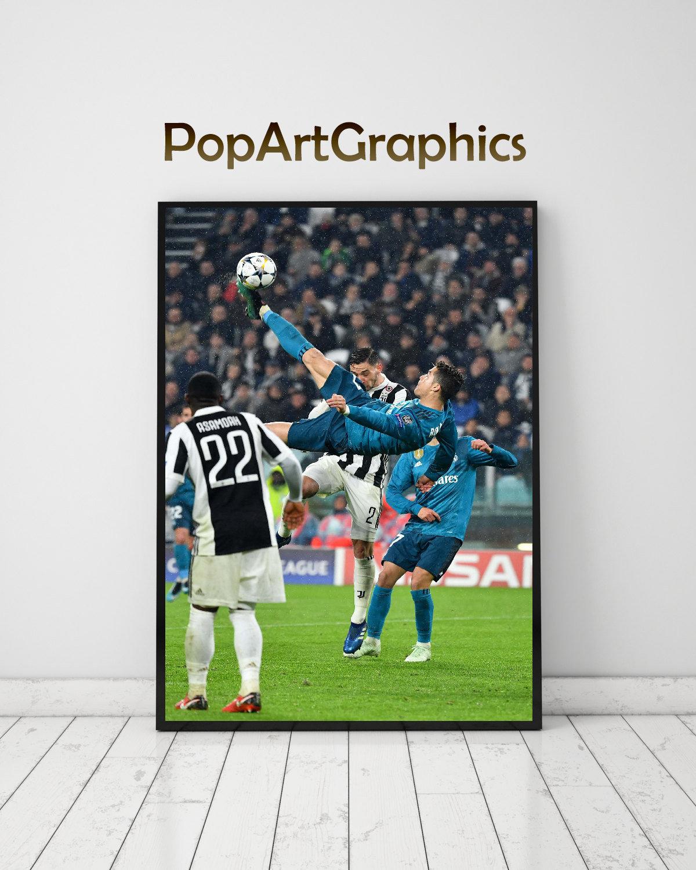 Cristiano Ronaldo Poster Real Madrid Print Home Decor DORM decor House Warming Gift Ronaldo wall art real madrid soccer