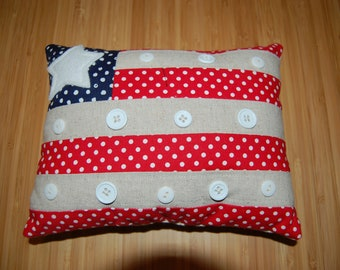 Patriotic Decorative Flag Pillow