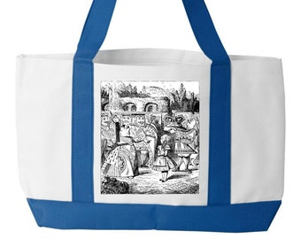 Cheshire Cat, Vintage Alice, Alice's Adventures in Wonderland, Charles Dodgson, Lewis Carroll, John Tenniel,  Tote Bag