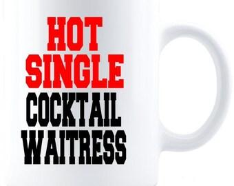 Gift for Waitress, Birthday Gift, Waitress Gift, Gift for Her,  Coffee Mug - White