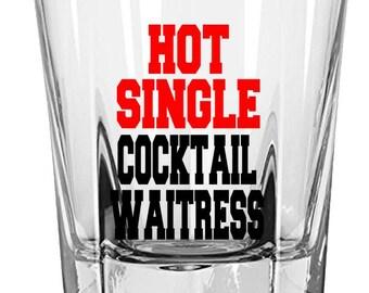 Gift for Waitress, Birthday Gift, Waitress Gift, Gift for Her,  Rock Glass