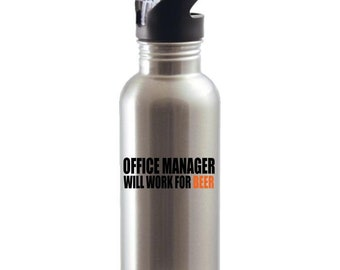 Gift for Office Manager, Gift for Boss, Office Manager Gift, Gift for Manager,  Water Bottles
