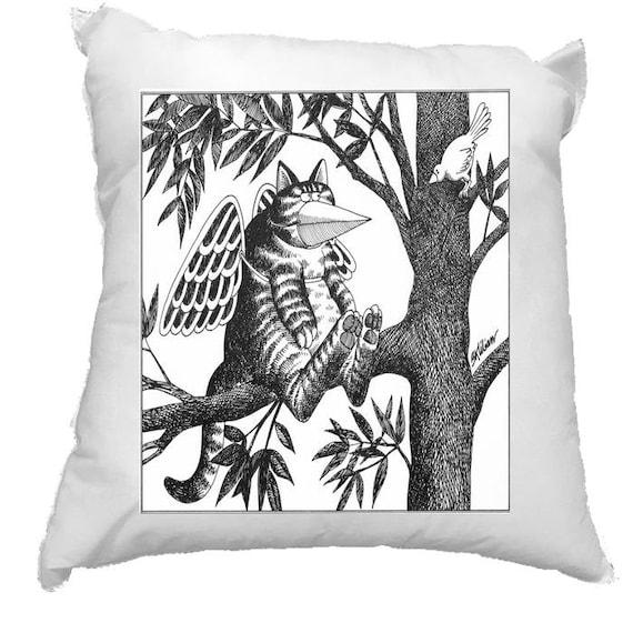 """Crazy Kliban Cat Pillowcase 16X16/"""""""