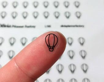 L195 Hot air ballon sticker, clear ballon sticker, ballon icon, transparent sticker, clear planner sticker, planner sticker