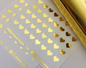 G140 Foiled heart sticker, love sticker, ECLP sticker, Erin condren planner, passion planner, happy planner
