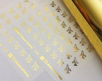 G118 Foiled airplain sticker, airplain, airplain icon, ECLP sticker, Erin condren planner, passion planner, happy planner
