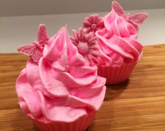 Strawberry Cream Cheese Cupcake Soap