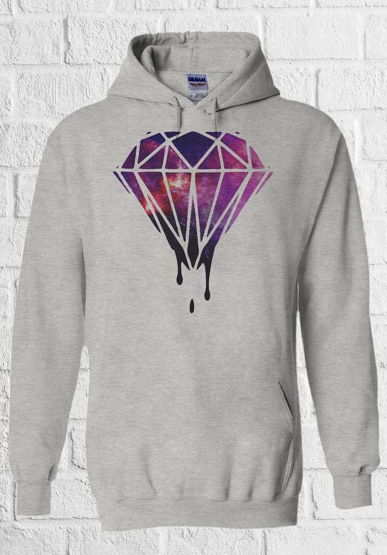 a9c1e189c24 Dripping Diamond Galaxy Men Women Unisex Top Hoodie Sweatshirt
