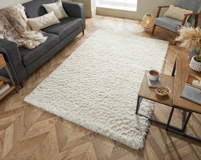 Featured listing image: Natural Cream Shaggy Rug