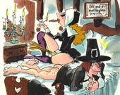 Original Playboy Preliminary Cartoon by Roy Raymonde