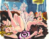 Playboy Cartoon - a rough by the late Roy Raymonde - Playboy Cartoonist 1972-2002