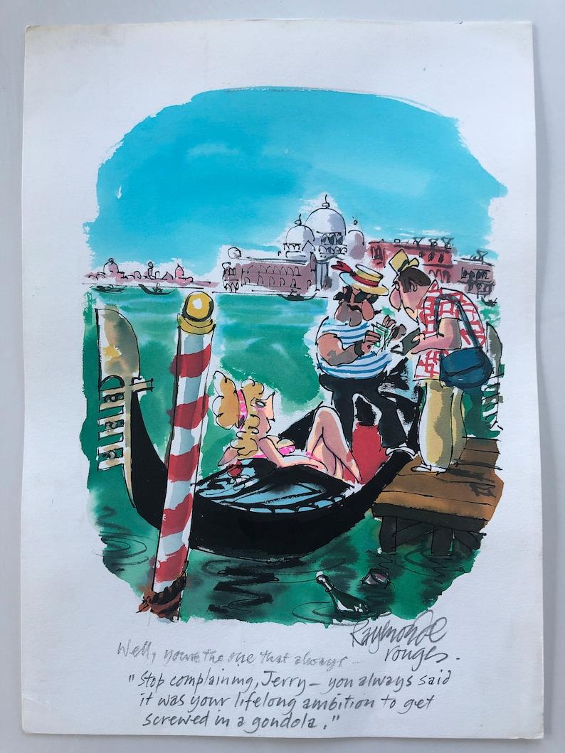 Venice  Preliminary Cartoon for Playboy USA image 0