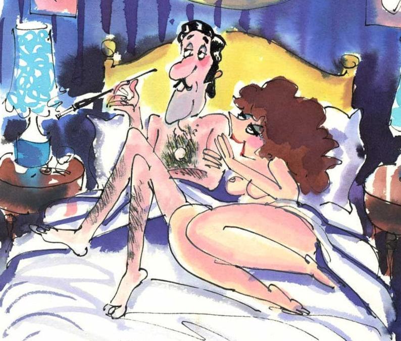 Original Roy Raymonde Cartoon for Playboy Magazine as part of image 0