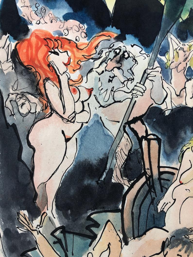 Vintage Preliminary Cartoon Artwork by the late Roy Raymonde image 0