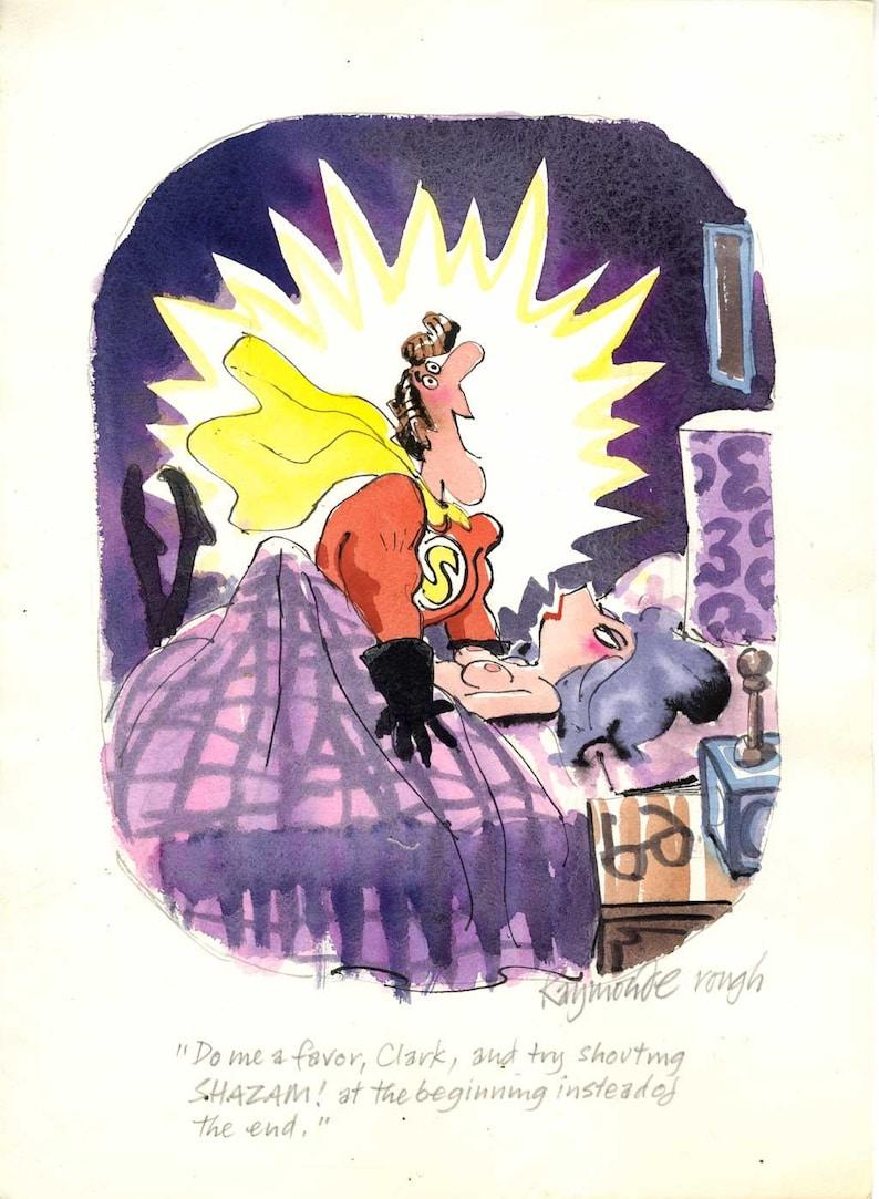 Playboy Preliminary Cartoon by the late Roy Raymonde image 0