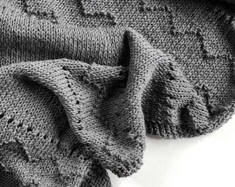 Knitted shawl 100% recycled cotton or Alpaca