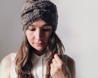 Knitted hair band 100% Alpaca