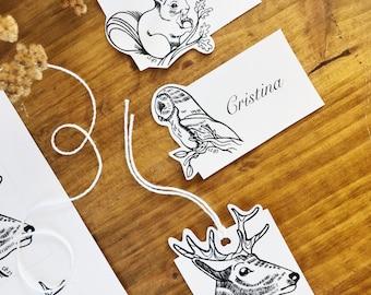 Printable animal labels, Instant Download