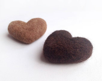 Needle Felted Hearts, Felt Hearts, Heart Gift Tags, Feltro Hearts  Decoration, Christmas Gifst tags 100% natural, Decoration Made in Italy