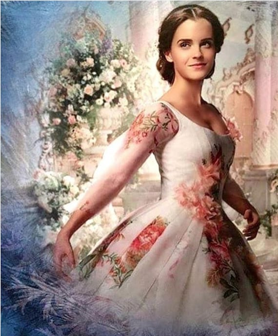 The Beauty And The Beast 2017 Belle Wedding Dress Custom Made Etsy