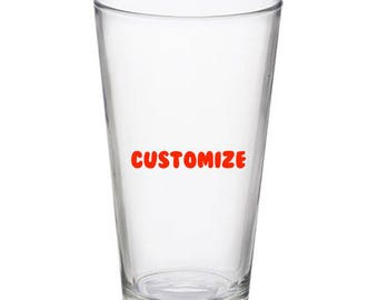 Customized 16 oz Pint Glass