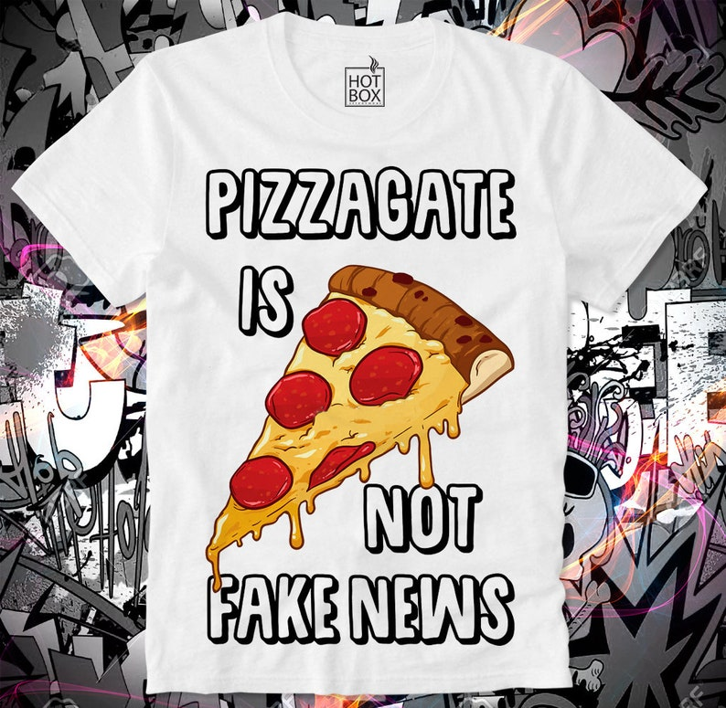 b7ce484ee70e6 T Shirt HOTBOX Pizza Gate Fake News Conspiracy 911 Q Anon chemtrails