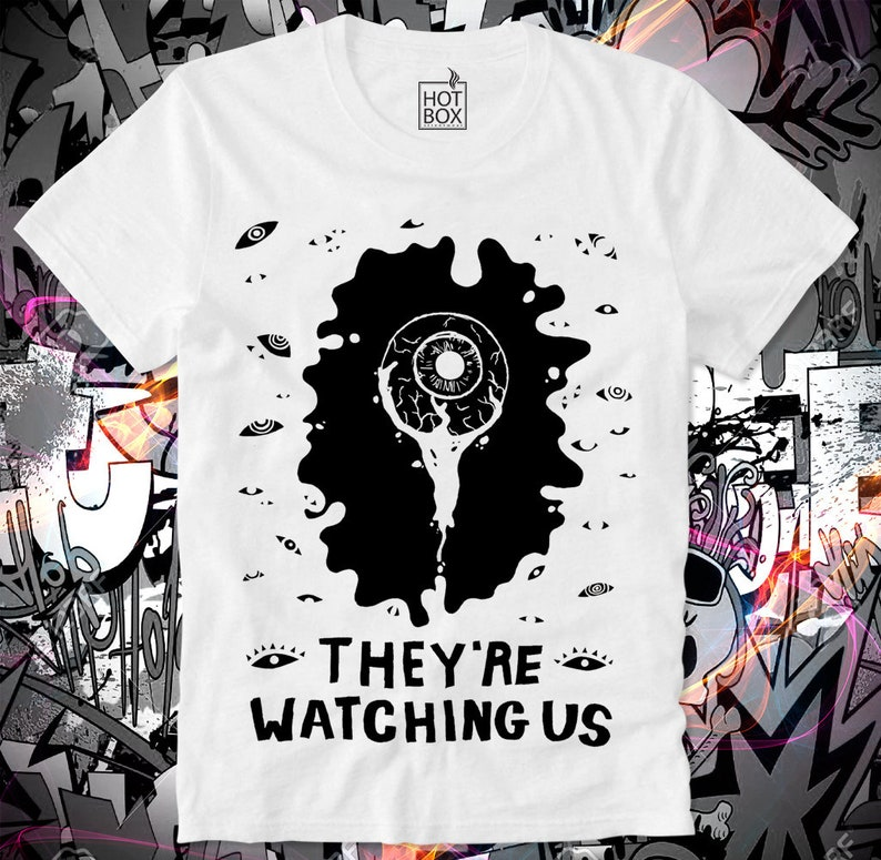 56602243b139a T Shirt HOTBOX They're watching Us Big Brother Conspiracy George Orwell  Snowden NSA 1984