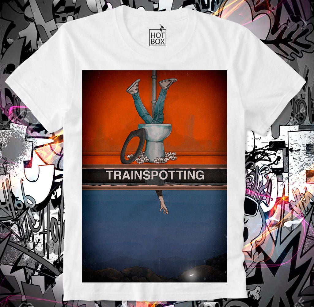 T Shirt HOTBOX Trainspotting Toilet Choose Life Ewan