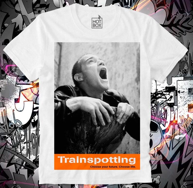 e63af41a1dec5 T Shirt HOTBOX Trainspotting Toilet Choose life Ewan McGregor Sick boy Mark  Renton Dope Supreme Spud