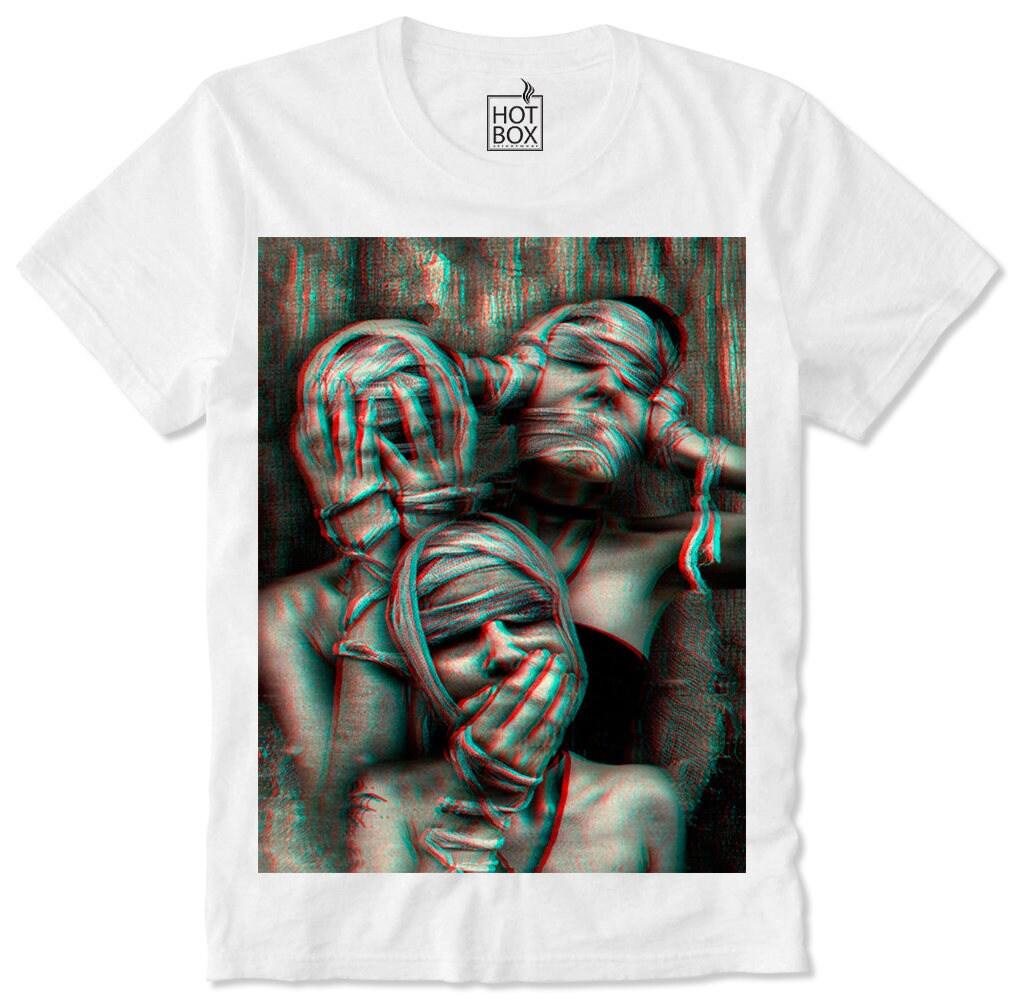 b1162161ef7f5 T Shirt HOTBOX The Three Monkeys The Three Mummys Mummy Zombie Horror Goth  Gothic Satan Satanic Church of