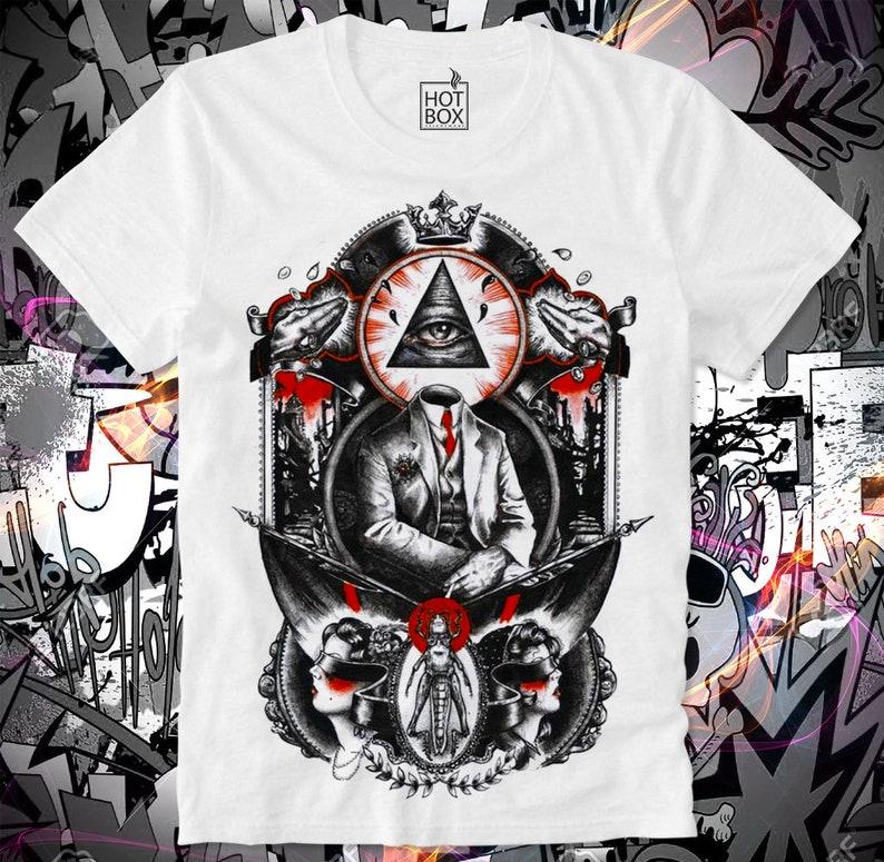 f1ea6cd73d4e1 T Shirt HOTBOX Illuminati Killuminati Conspiracy Verschwörung Illuminaten  Global Dominance Q Anon