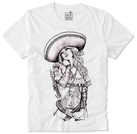 T Shirt HOTBOX Chicana Chica Gangsta Gangster Girl Sexy Hot Swag Dope  Hipster Rap Hip Hop Mexicana