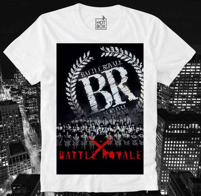 3838fdc324a88 T Shirt HOTBOX Ballte Royale Survival Program Japan Japanese Horror Movie B  Scary Splatter