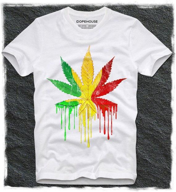T Shirt DOPEHOUSE Dope Swag Hipster Unkraut Marihuana THC Kush Stoner Kiffer Topf Kopf Pothead legalisieren es Rasta Rastafari