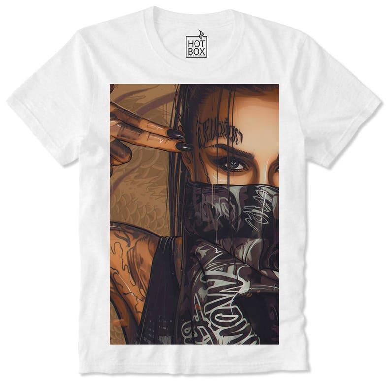 9b9c7b5ce746 T Shirt HOTBOX Trippy Gangster Bandana Sexy Dope Swag Girl Hot | Etsy