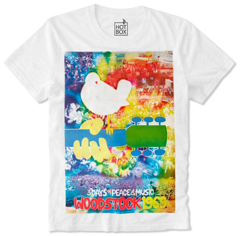 77aff9f60527d T Shirt HOTBOX Woodstock Music Festival Love Peace Hippie 69 Hipster Retro  Vintage