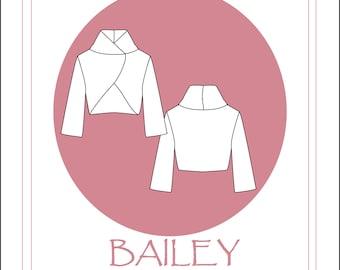 Bailey- a bolero jacket PDF sewing pattern