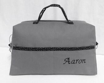 CUSTOM bag has diaper anthracite gray and black