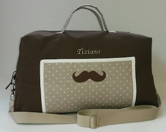 CUSTOM bag has changing personalized mustache