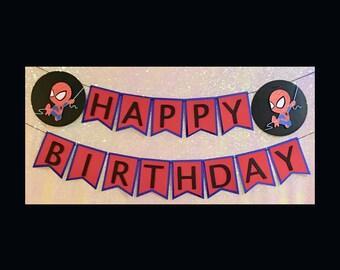 Spiderman Banner | Spiderman Birthday | Birthday Banner