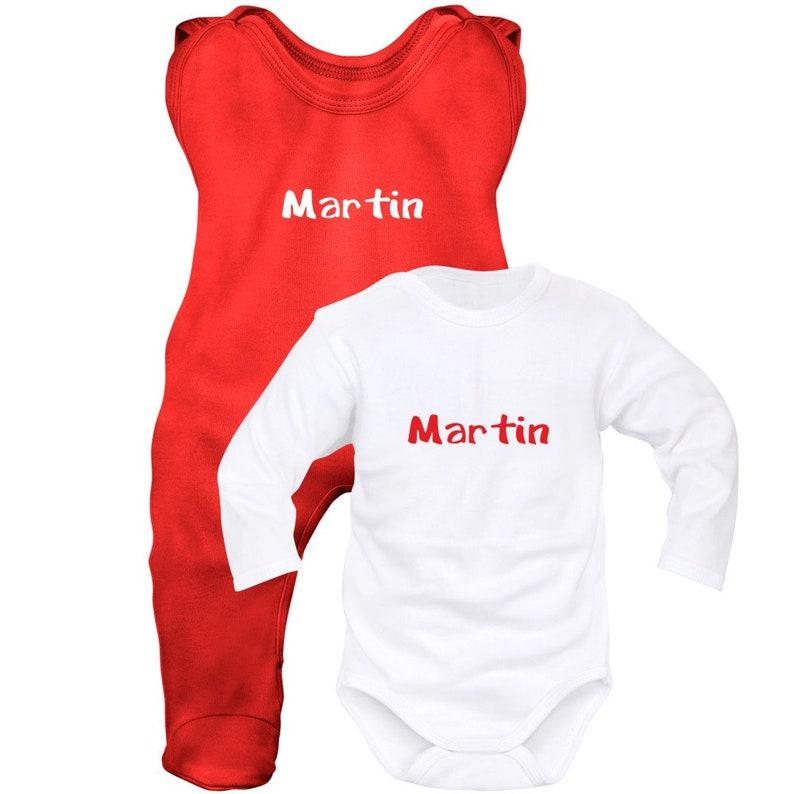 Body + onesie personalized baby set