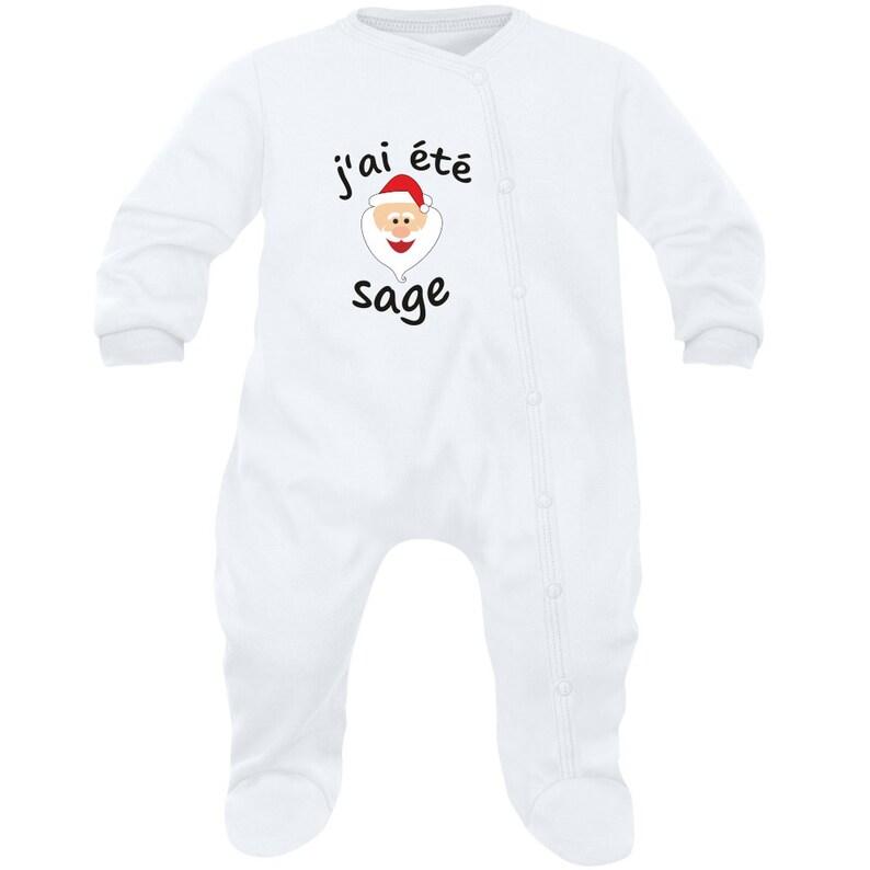 1d03f34082ca6 Pyjama bébé Noël   j ai été sage