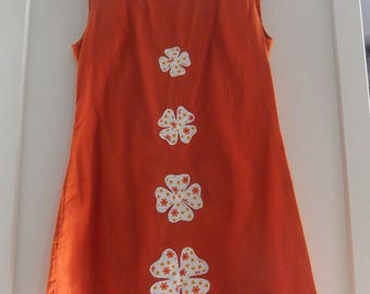 DRESS WOMAN 36/38 ORANGE SUNFLOWERS