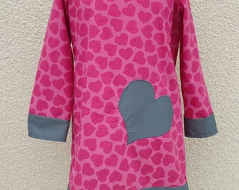 PRETTY HEART GIRL DRESS HAS COTTON 12/18 MONTH LONG SLEEVE