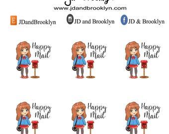 Happy Mail planner sticker sheet