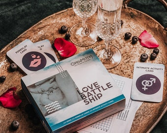 Romantic Gift Love Battleship Game for Couples. Sexy Valentines Day gift